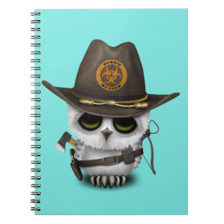 Baby Owl Zombie Hunter Notebook