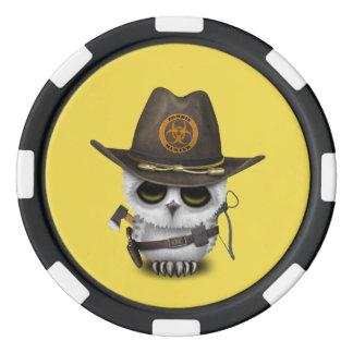 Baby Owl Zombie Hunter Poker Chips