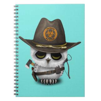 Baby Owl Zombie Hunter Spiral Notebook
