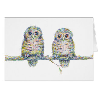 """Baby Owls (Connection) Note Card - 5.6"""" x 4"""""""