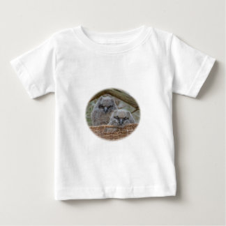 Baby Owls in a Wicker Basket Nest Baby T-Shirt