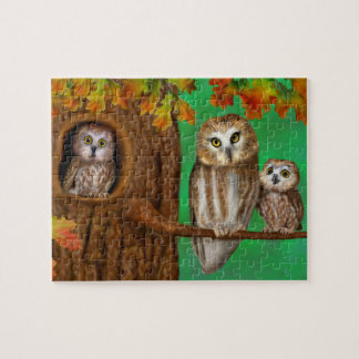 BABY OWLS JIGSAW PUZZLE