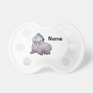 Baby Pacifier, Cute Walrus Cartoon with Name Dummy