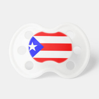 Baby Pacifier Puerto Rico Flag