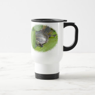 Baby Painted Turtle on Lilypad Items Stainless Steel Travel Mug