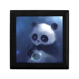 Baby Panda Bear Small Square Gift Box