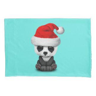 Baby Panda Bear Wearing a Santa Hat Pillowcase