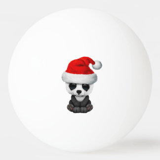 Baby Panda Bear Wearing a Santa Hat Ping Pong Ball