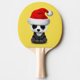 Baby Panda Bear Wearing a Santa Hat Ping Pong Paddle