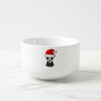 Baby Panda Bear Wearing a Santa Hat Soup Mug