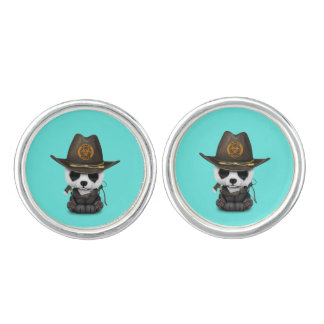 Baby Panda Bear Zombie Hunter Cuff Links