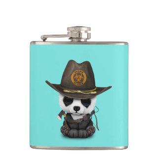 Baby Panda Bear Zombie Hunter Hip Flask