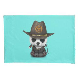 Baby Panda Bear Zombie Hunter Pillowcase