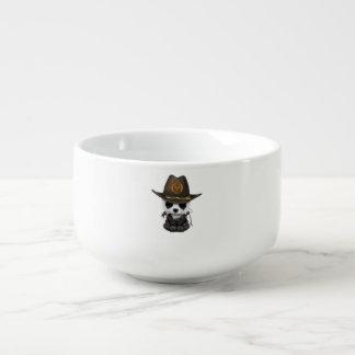 Baby Panda Bear Zombie Hunter Soup Mug