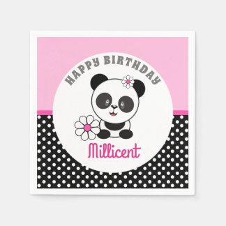 Baby Panda Birthday Disposable Napkin