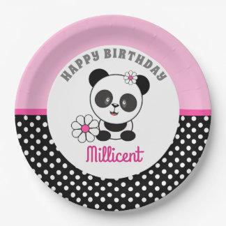 Baby Panda Birthday Paper Plate