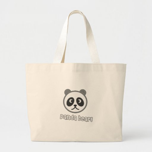 Baby Panda Cartoon Canvas Bags