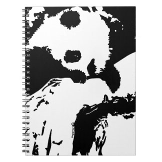 Baby Panda Hugs A Tree Notebook