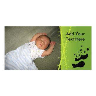 Baby Panda Hugs Birth Announcement Photo Card