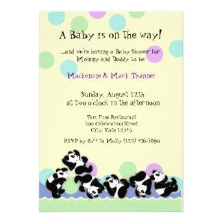 Baby Panda Mania Custom Announcements