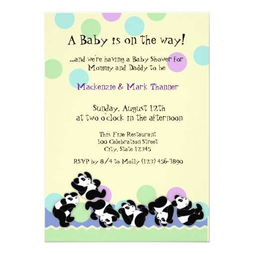 Baby Panda Mania Custom Announcements