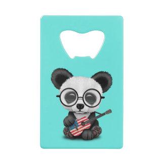 Baby Panda Playing American Flag Guitar