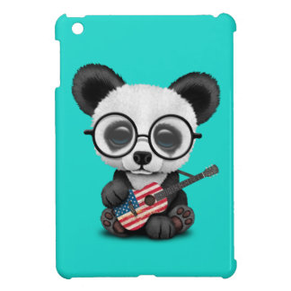 Baby Panda Playing American Flag Guitar iPad Mini Case