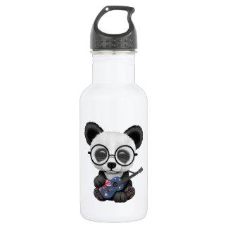 Baby Panda Playing Australian Flag Guitar 532 Ml Water Bottle