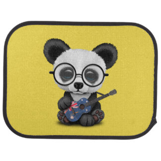 Baby Panda Playing Australian Flag Guitar Car Mat