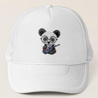 Baby Panda Playing Australian Flag Guitar Trucker Hat