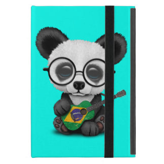 Baby Panda Playing Brazilian Flag Guitar Cover For iPad Mini