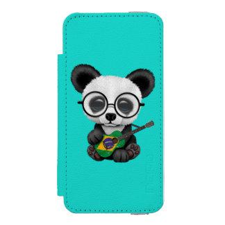 Baby Panda Playing Brazilian Flag Guitar Incipio Watson™ iPhone 5 Wallet Case