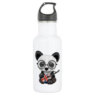 Baby Panda Playing British Flag Guitar 532 Ml Water Bottle