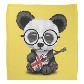 Baby Panda Playing British Flag Guitar Bandana