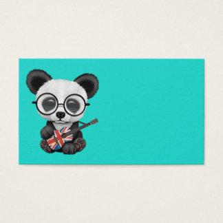Baby Panda Playing British Flag Guitar Business Card