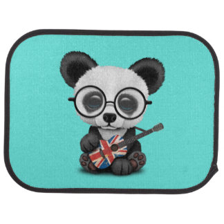 Baby Panda Playing British Flag Guitar Car Mat