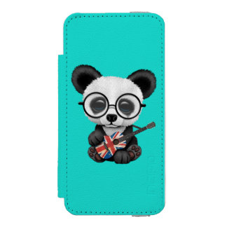 Baby Panda Playing British Flag Guitar Incipio Watson™ iPhone 5 Wallet Case