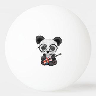Baby Panda Playing British Flag Guitar Ping Pong Ball