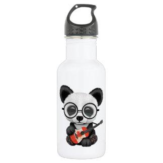 Baby Panda Playing Canadian Flag Guitar 532 Ml Water Bottle
