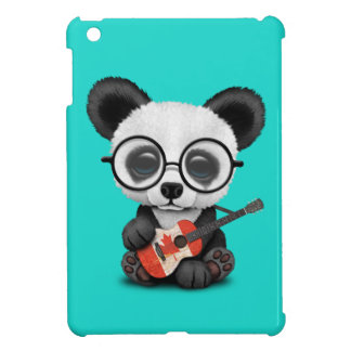 Baby Panda Playing Canadian Flag Guitar Case For The iPad Mini