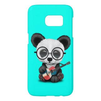 Baby Panda Playing Dominican Flag Guitar