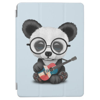 Baby Panda Playing Dominican Flag Guitar iPad Air Cover