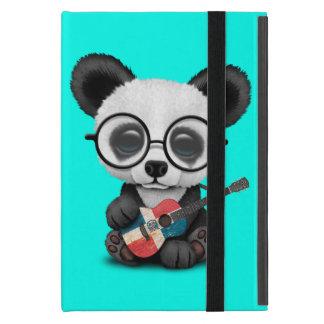 Baby Panda Playing Dominican Flag Guitar iPad Mini Cover