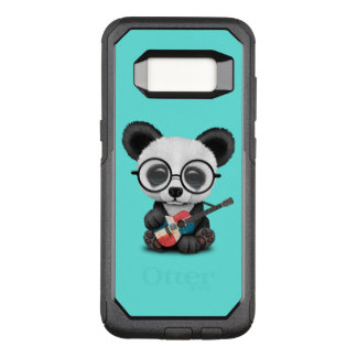 Baby Panda Playing Dominican Flag Guitar OtterBox Commuter Samsung Galaxy S8 Case