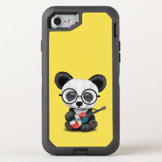 Baby Panda Playing Dominican Flag Guitar OtterBox Defender iPhone 8/7 Case
