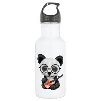 Baby Panda Playing English Flag Guitar 532 Ml Water Bottle