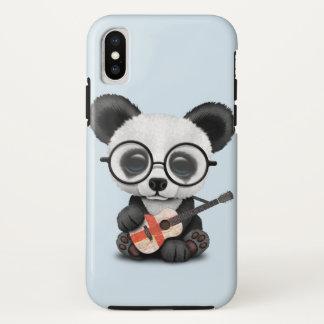 Baby Panda Playing English Flag Guitar iPhone X Case