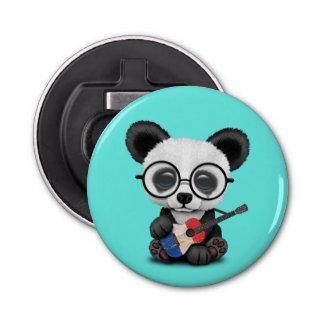 Baby Panda Playing French Flag Guitar Bottle Opener