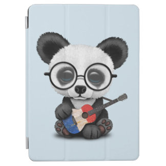Baby Panda Playing French Flag Guitar iPad Air Cover