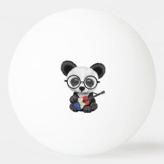 Baby Panda Playing French Flag Guitar Ping Pong Ball